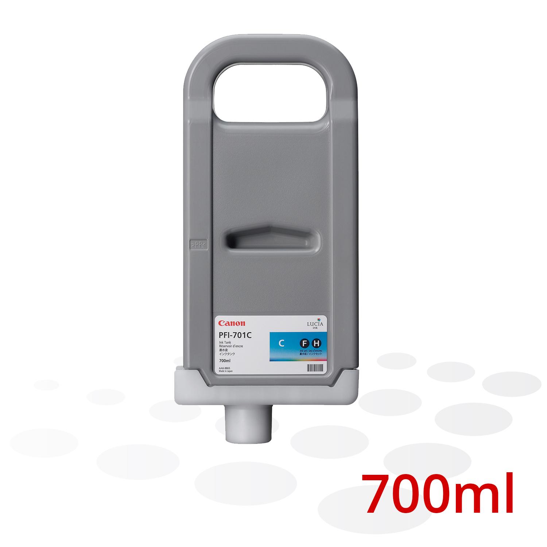 Canon Tinte PFI-701 C, Cyan, 700 ml