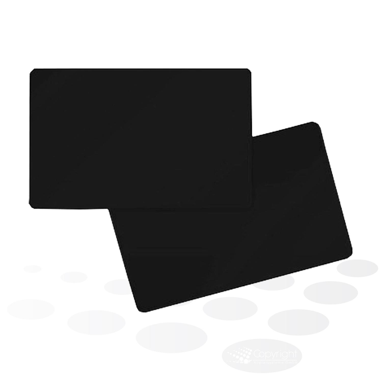 Plastikkarten – schwarz, glänzend
