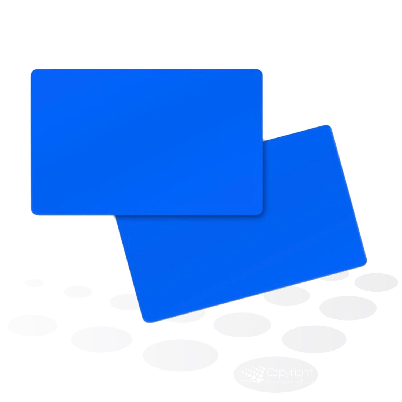 Plastikkarten – blau, matt