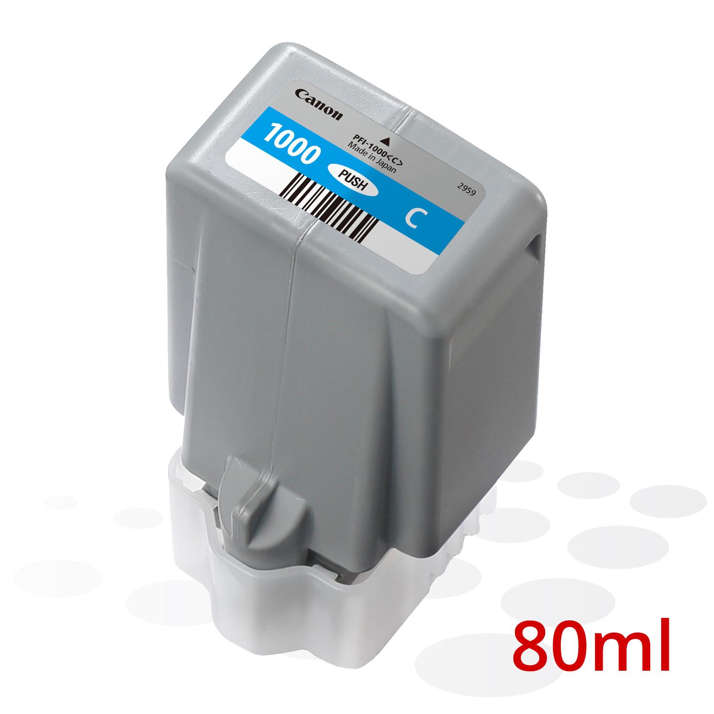 Canon PFI-1000 C, Cyan, 80 ml