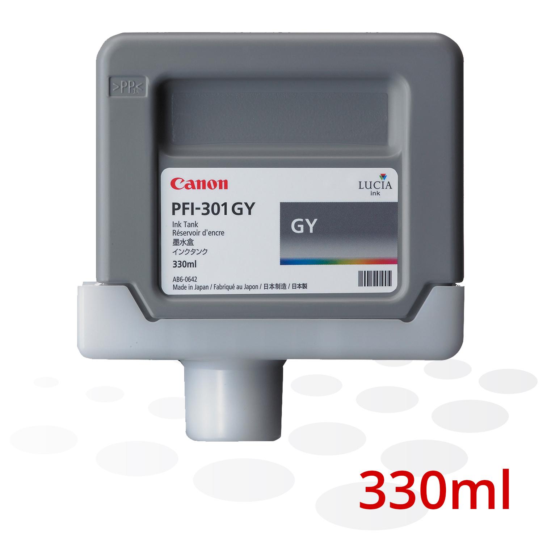 Canon Tinte PFI-301 GY, Grau, 330 ml
