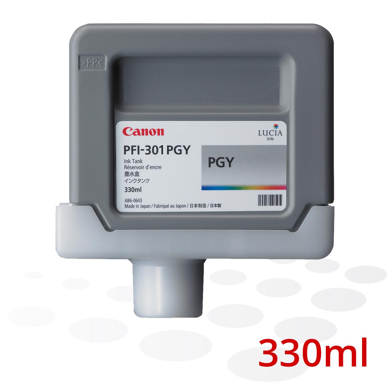 Canon Tinte PFI-301 PGY, Photo Grau, 330 ml