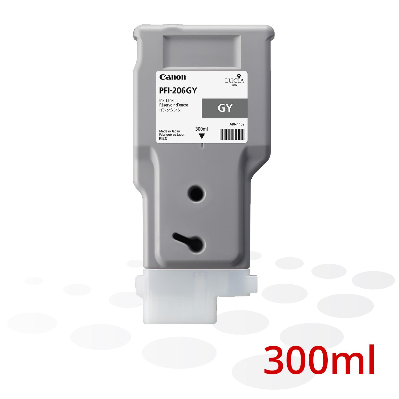 Canon PFI-206 GY, Mittleres Grau, 300 ml