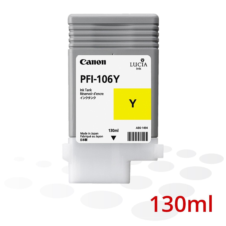 Canon PFI-106 Y, Yellow, 130 ml