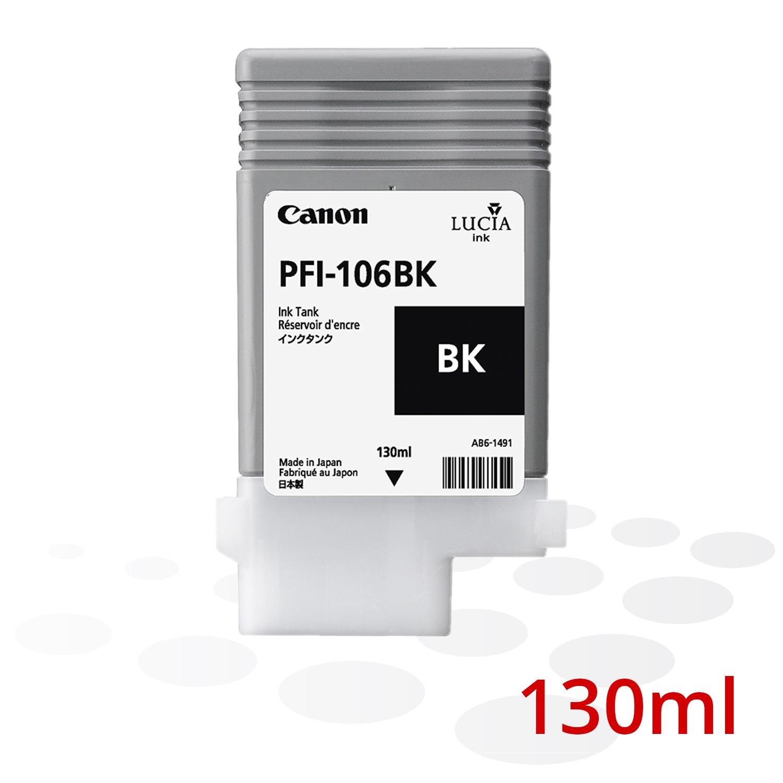 Canon PFI-106 BK, Schwarz, 130 ml