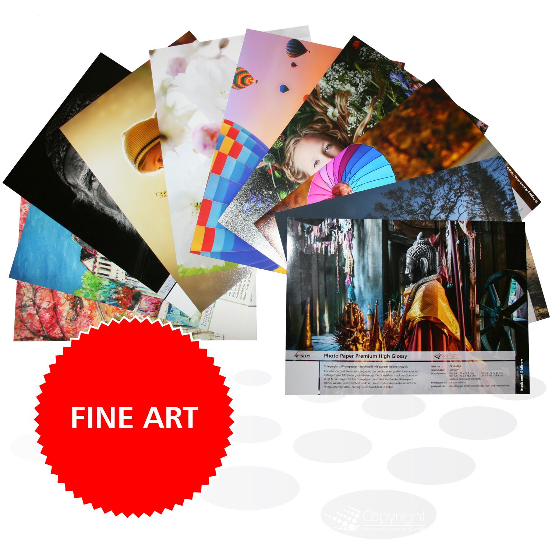 Infinity Mustermappe – bedruckte Fine Art Papiere