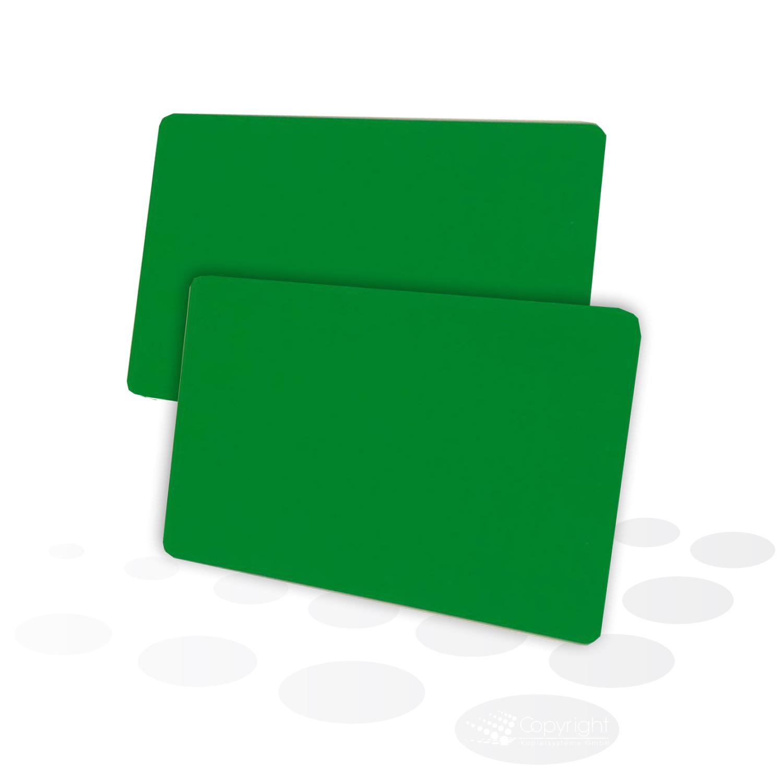 Plastikkarten – grün, glänzend