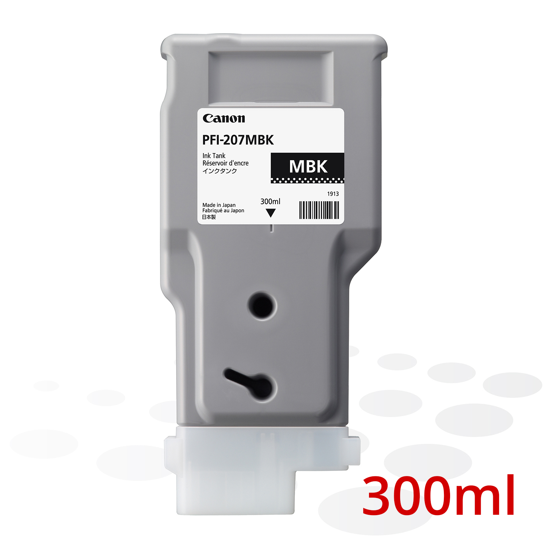 Canon PFI-207 MBK, Matt Schwarz, 300 ml