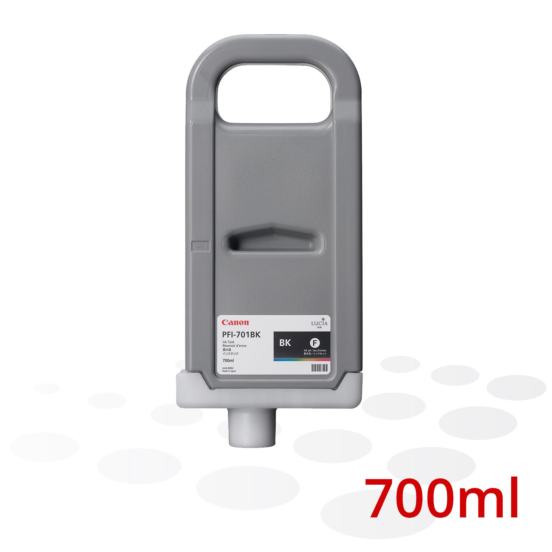 Canon Tinte PFI-701 BK, Schwarz, 700 ml