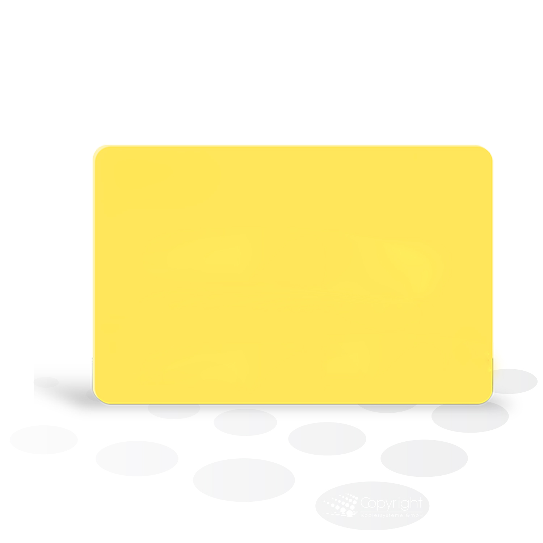 Plastikkarten – gelb, glänzend