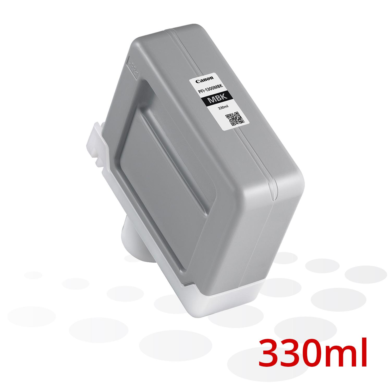 Canon PFI-1300 MBK, Matt Schwarz, 330 ml