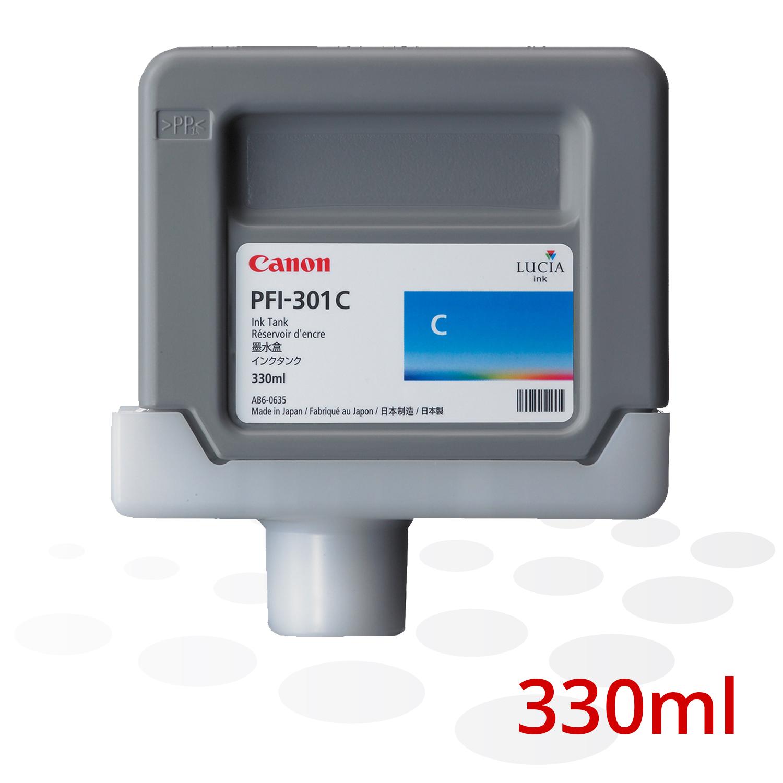 Canon Tinte PFI-301 C, Cyan, 330 ml
