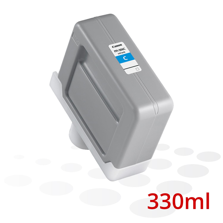 Canon Tinte PFI-306 C, Cyan, 330 ml
