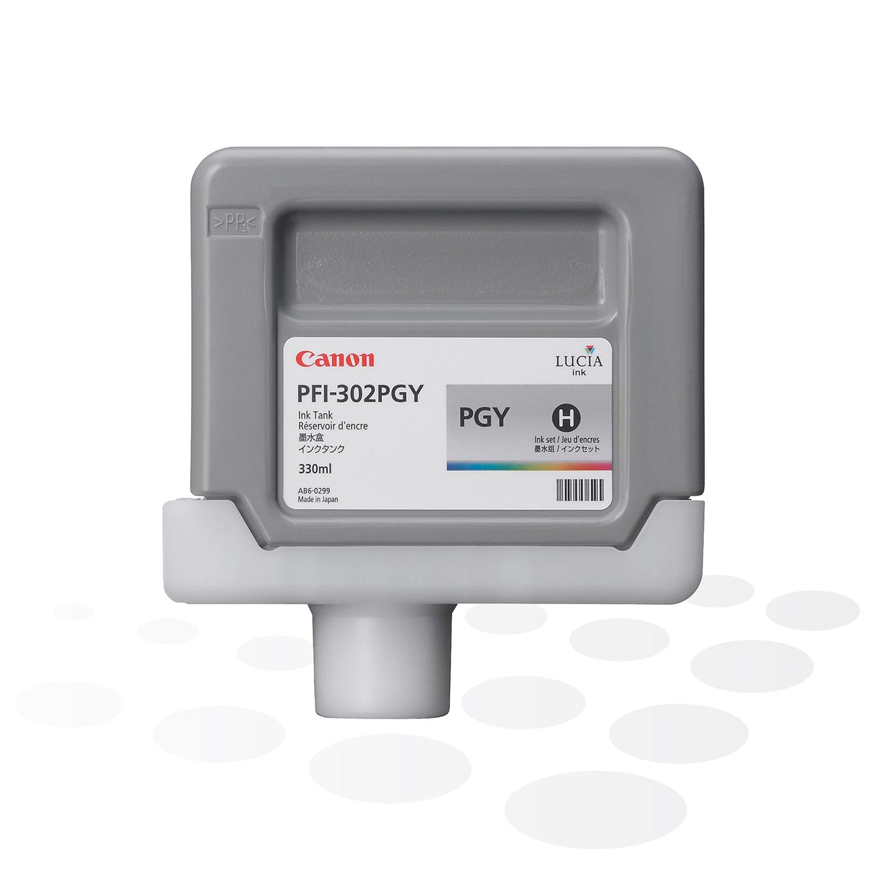 Canon Tinte PFI-302 PGY, Photo-Grau, 330 ml