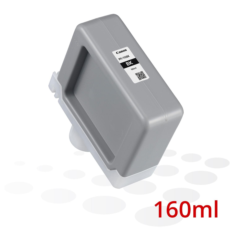 B-Ware Canon PFI-110 BK, Schwarz, 160 ml