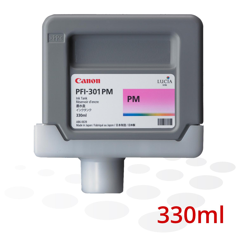 Canon Tinte PFI-301 PM, Photo Magenta, 330 ml