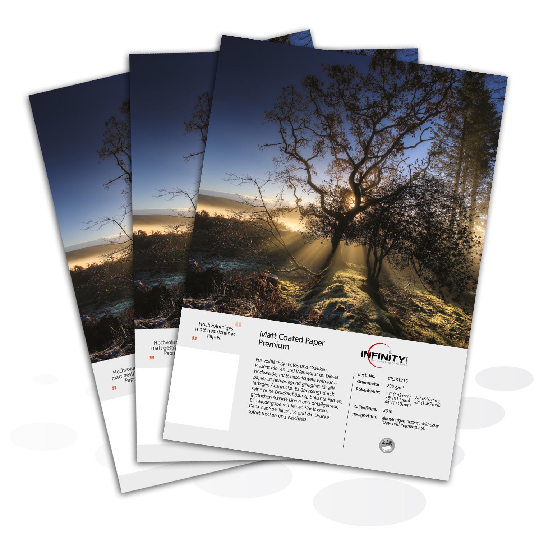 Matt Coated Paper Premium, ab 50 Blatt