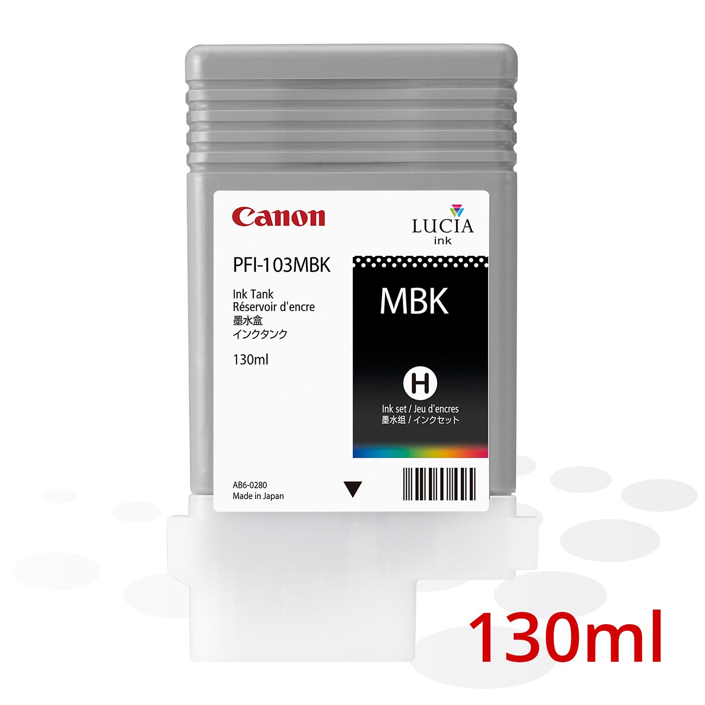 Canon PFI-103 MBK, Matt Schwarz, 130 ml