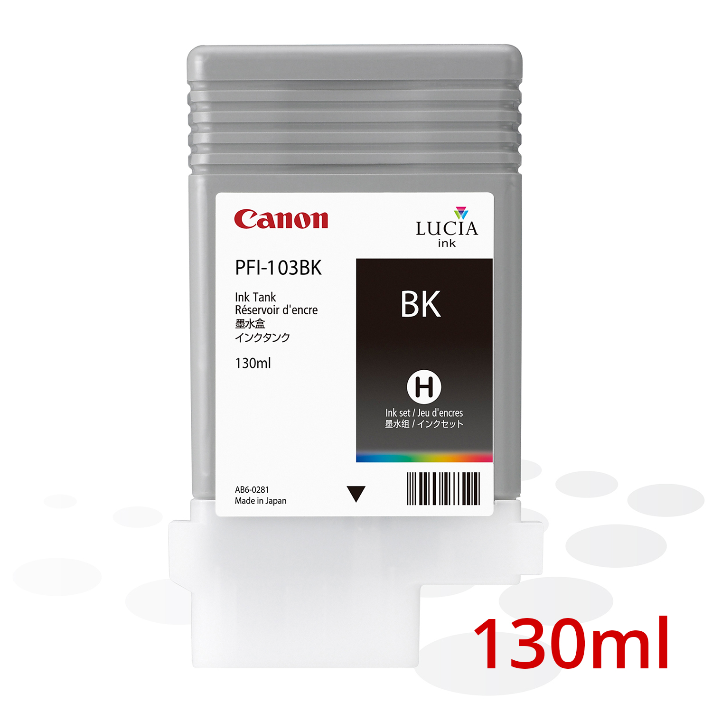 Canon PFI-103 BK, Schwarz, 130 ml