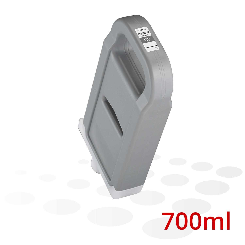 Canon Tinte PFI-706 GY, Grau, 700 ml