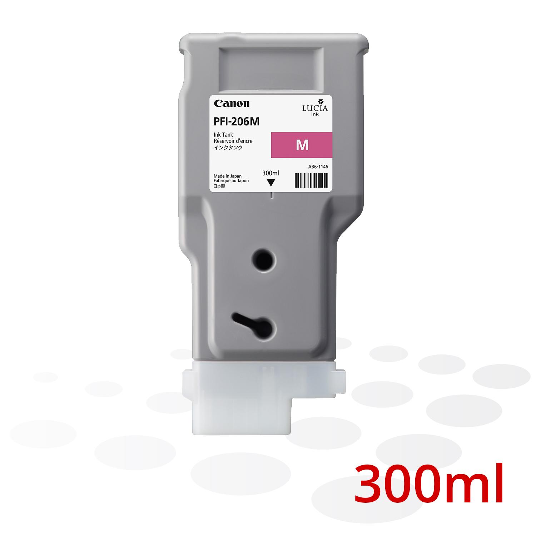 Canon PFI-206 M, Magenta, 300 ml