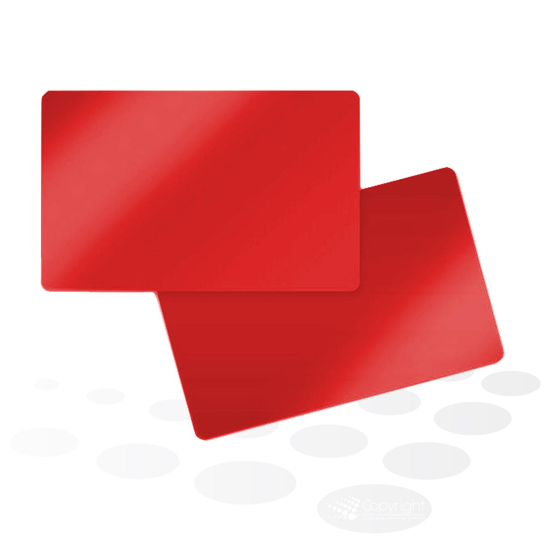 Plastikkarten – rot, glänzend