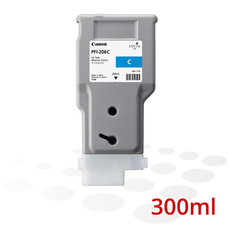 Canon PFI-206 C, Cyan, 300 ml