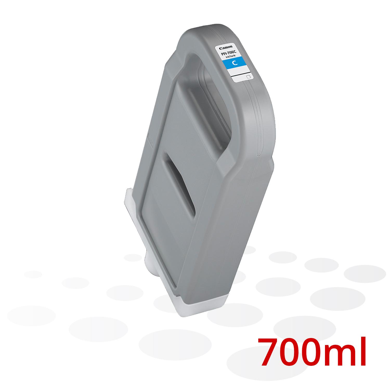 Canon Tinte PFI-706 C, Cyan, 700 ml
