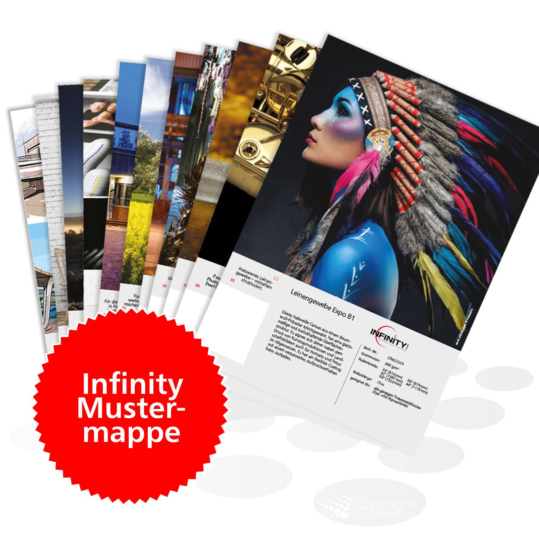 Infinity Mustermappe – bedruckte Papiere