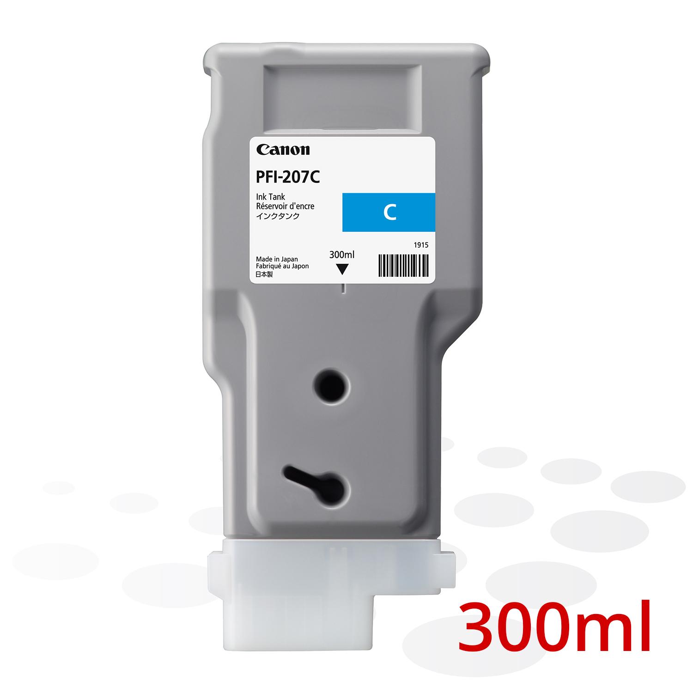 Canon PFI-207 C, Cyan, 300 ml